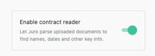 Jur contract reader
