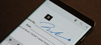 juro electronic signature of a PDF in android