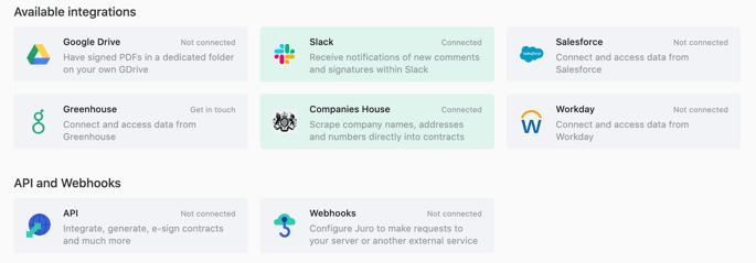 Juro guide to eSignature in Salesforce - Juro integrations