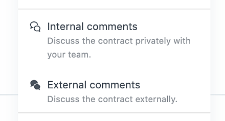Juro internal and external comments