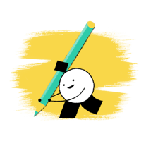 Juro guide to eSignature in Salesforce - Character holding pencil