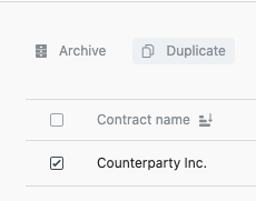 duplicate contract in Juro